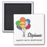 Year Dated, Age, Name Personalized Birthday Fridge Magnet