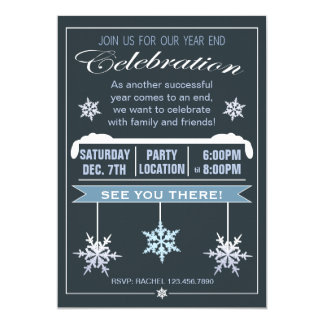 Year End Celebration Christmas Party Invitation