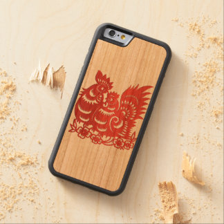 """Year of Rooster Phone Case"" Carved Cherry iPhone 6 Bumper Case"
