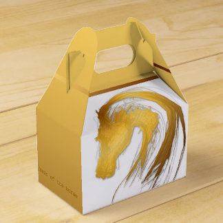 Year of the horse Gable Favor Box Party Favour Box