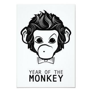 year of the monkey (bowtie) 9 cm x 13 cm invitation card