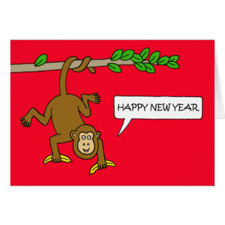 Year of the Monkey Chinese New Year Greeting Card