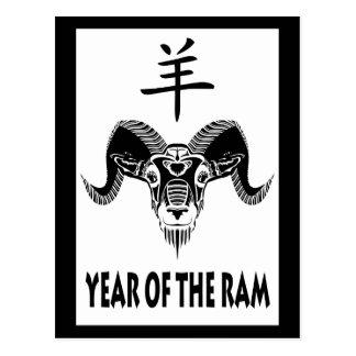 year of the ram (wildRam) Postcard