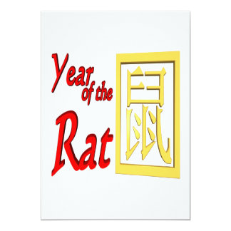 Year Of The Rat 13 Cm X 18 Cm Invitation Card