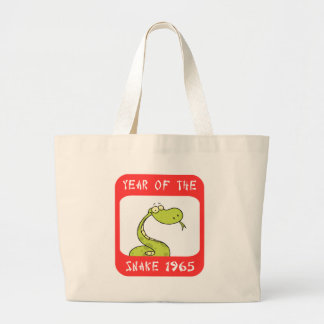 Year of The Snake 1965 Large Tote Bag