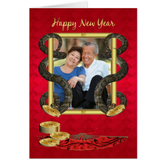 Year Of The Snake, Chinese New Year Photo Greeting Card