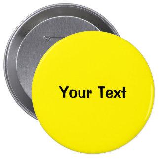 "Yellow 4"" Custom Text Button Template"