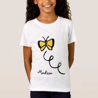 Yellow Amber Butterfly T-Shirt