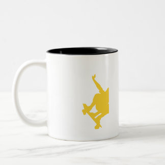Yellow Amber Skater Two-Tone Mug