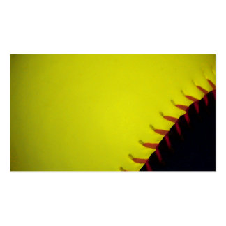 Yellow and Black Baseball / Softball Business Card Templates