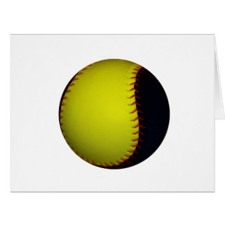Yellow and Black Baseball / Softball Card