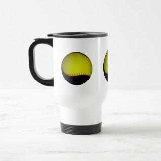 Yellow and Black Baseball / Softball 15 Oz Stainless Steel Travel Mug