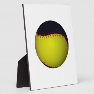 Yellow and Black Baseball / Softball Plaque