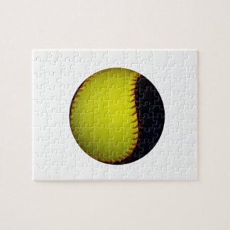 Yellow and Black Baseball / Softball Puzzle