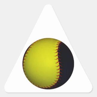 Yellow and Black Baseball / Softball Triangle Sticker
