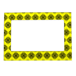 Yellow and Black Modern Decorative Links Magnetic Frame