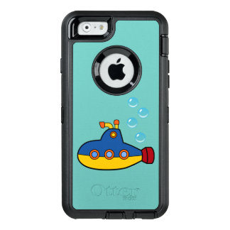 Yellow and Blue Toy Submarine with Water Bubbles OtterBox iPhone 6/6s Case