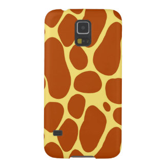 Yellow and Brown Giraffe Pattern Galaxy S5 Covers