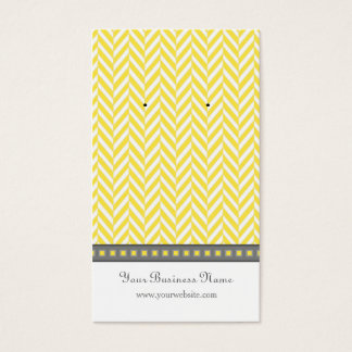 Yellow and Gray Herringbone Earring Cards