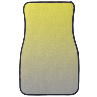 """""""Yellow And Gray Ombre"""" Car Mat"""