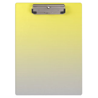 """Yellow And Gray Ombre"" Clipboards"