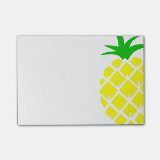 Yellow and Green Pineapple Post-it Notes