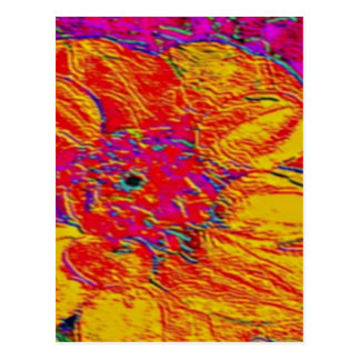 yellow and orange dahlia postcard