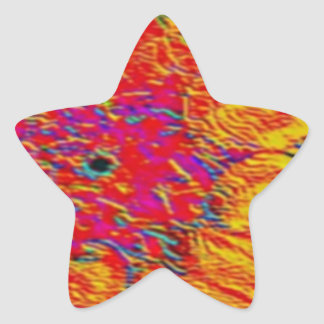 yellow and orange dahlia star sticker