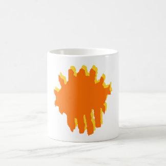 yellow and orange design basic white mug