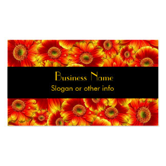 Yellow and Orange Gerbera Daisies Pack Of Standard Business Cards