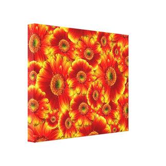 Yellow and Orange Gerbera Daisies Gallery Wrap Canvas