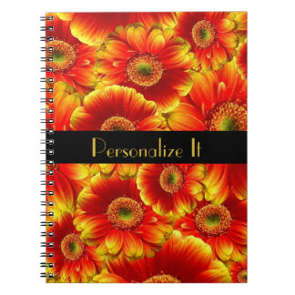 Yellow and Orange Gerbera Daisies Note Book