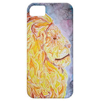 Yellow and Orange Lion Case For The iPhone 5