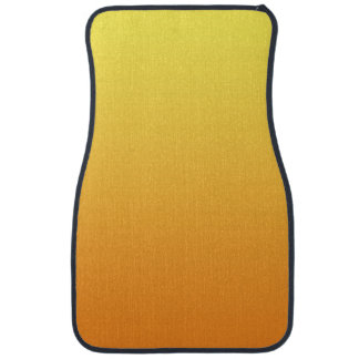 """""""Yellow And Orange Ombre"""" Car Mat"""