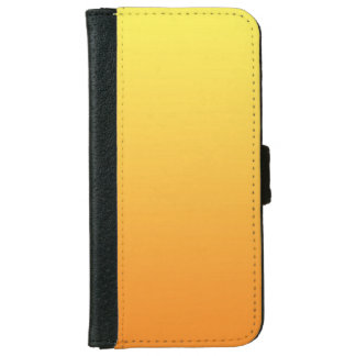 """Yellow And Orange Ombre"" iPhone 6 Wallet Case"