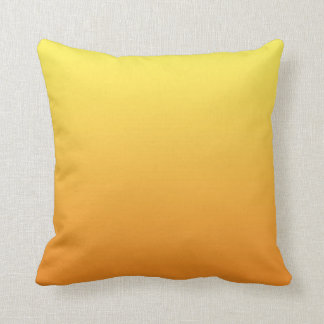 """""""Yellow And Orange Ombre"""" Throw Pillow"""