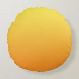 Yellow And Orange Round Cushion
