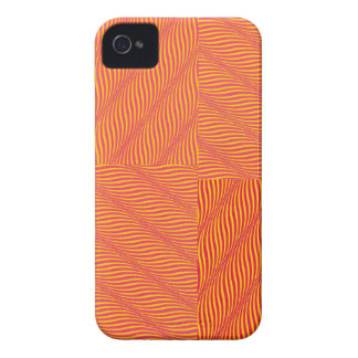 Yellow and Orange Waves iPhone 4 Case-Mate Cases