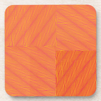 Yellow and Orange Waves Drink Coasters