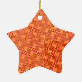 Yellow and Orange Waves Christmas Ornament