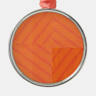 Yellow and Orange Waves Ornaments