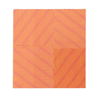 Yellow and Orange Waves Notepad