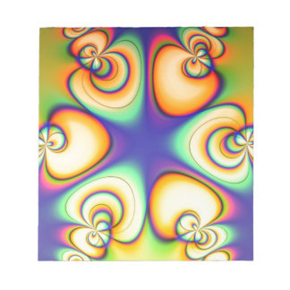 Yellow And Purple fractal Notepad