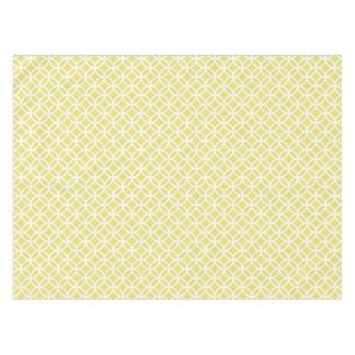 Yellow and White Circles Patterned Tablecloth