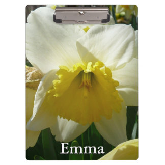 Yellow and White Daffodil Spring Floral Clipboard