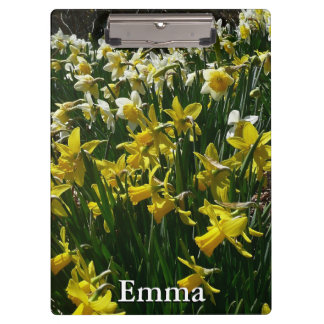 Yellow and White Daffodils Spring Flowers Clipboards