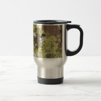 Yellow and White Lichen on Sandstone Natural Camo Stainless Steel Travel Mug