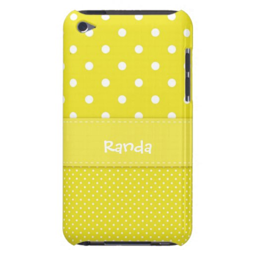 Yellow and White Polka Dot iPod Touch Case