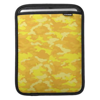Yellow Army Military Camo Camouflage Pattern iPad Sleeve