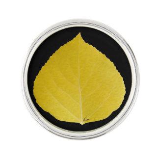 Yellow Aspen Leaf #5 Lapel Pin